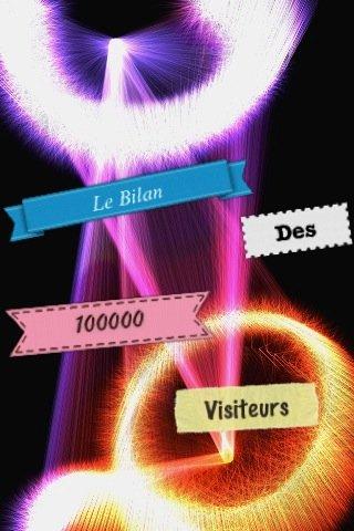 Etiquette 100000 visiteurs sixage
